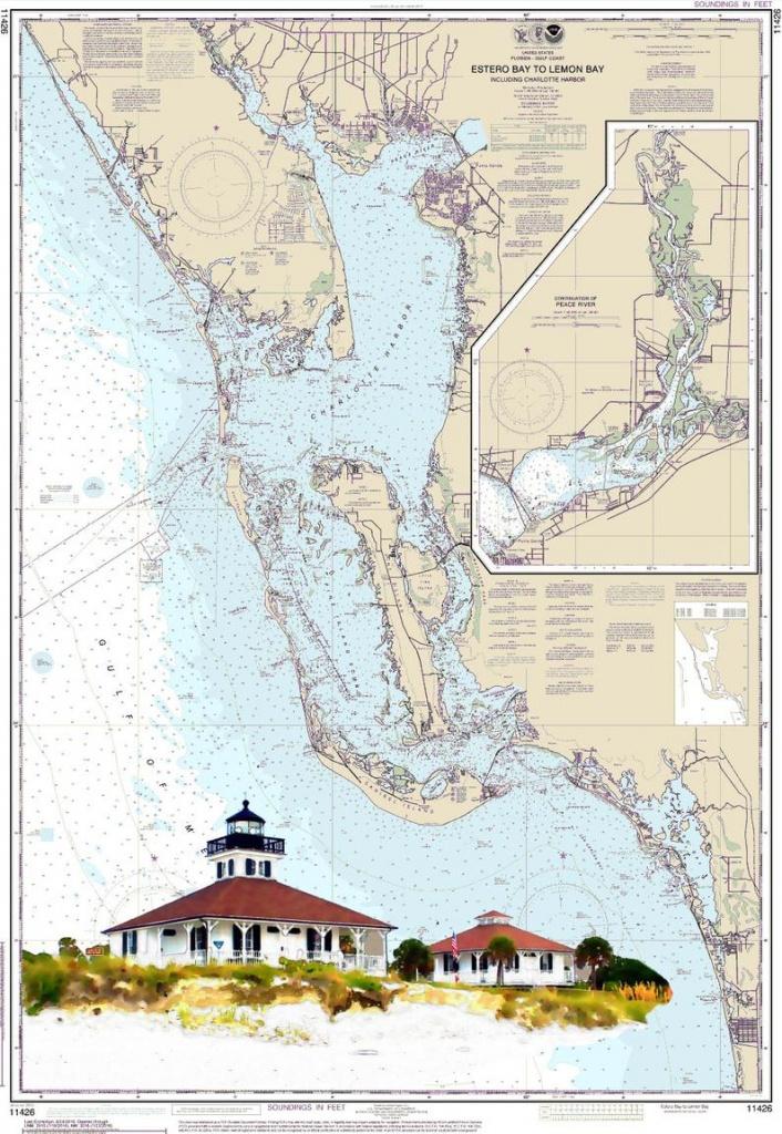 Nautical Chart Art Boca Grande Sanibel Gulf Of Mexico | Etsy - Nautical Maps Florida