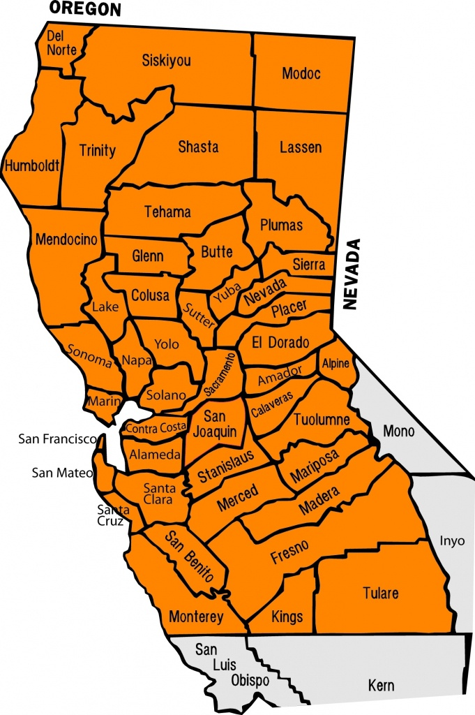 Ncdcl Labeled Map With County Map Of Northern California With Cities - Northern California County Map
