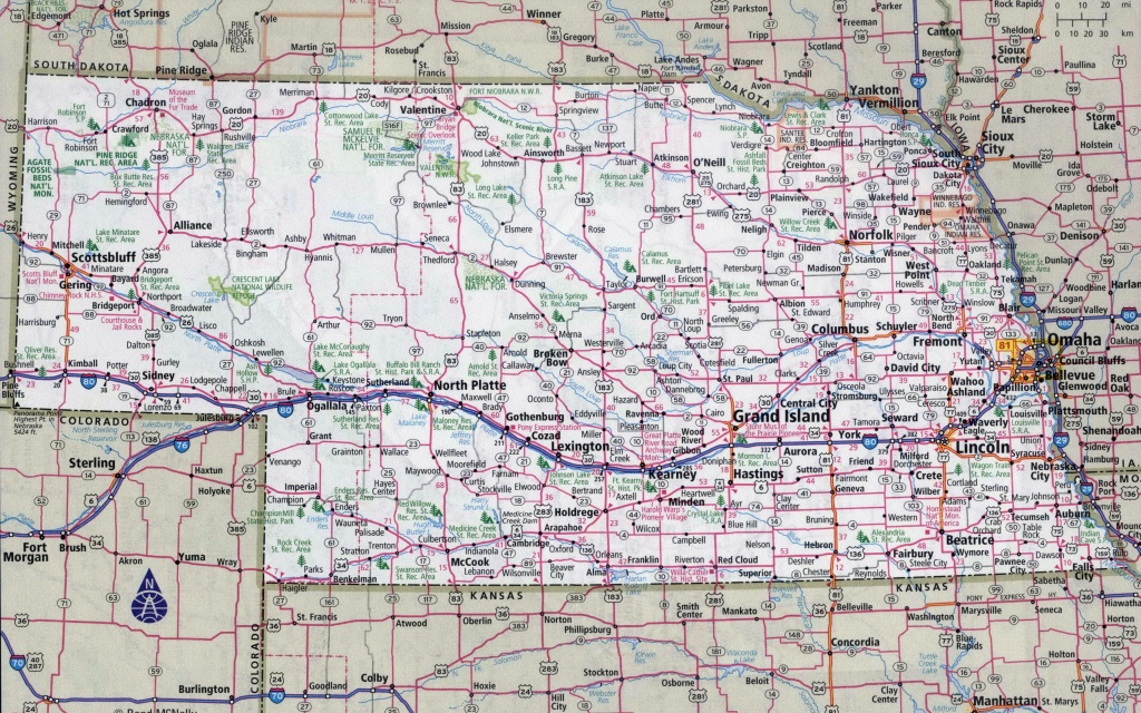 Ne Map With Towns And Travel Information | Download Free Ne Map With - Printable Road Map Of Nebraska