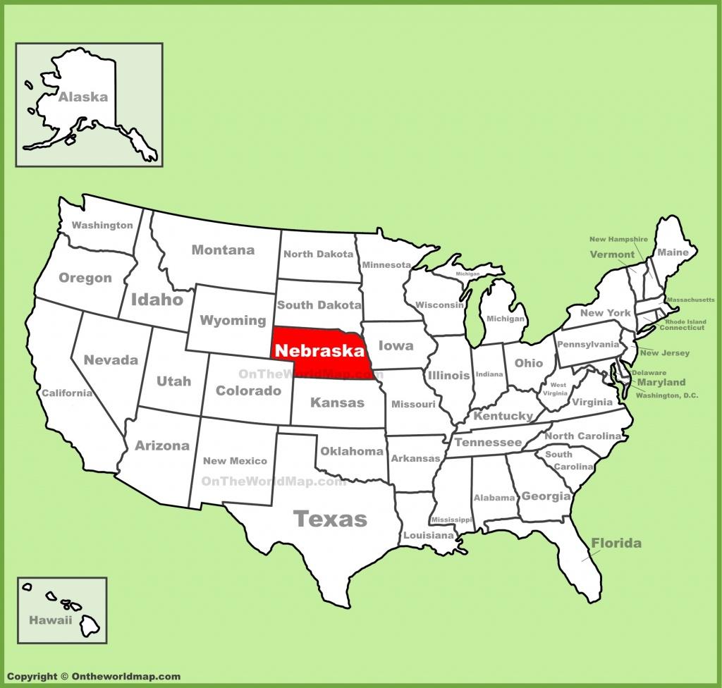 Nebraska Location On The U.s. Map - California Map With States