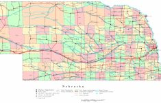 Nebraska Printable Map   Printable Map Of Nebraska