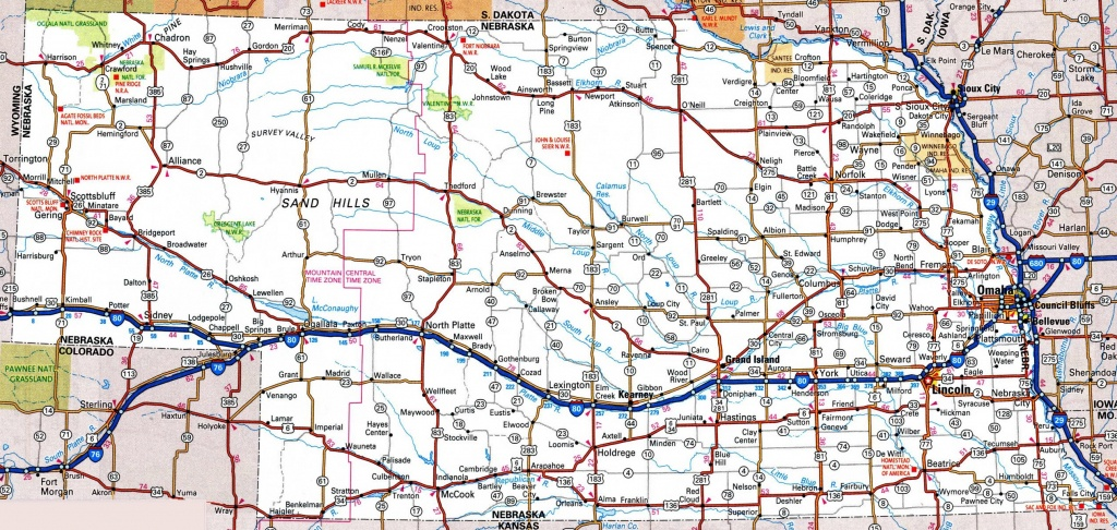 Nebraska Road Map - Printable State Road Maps