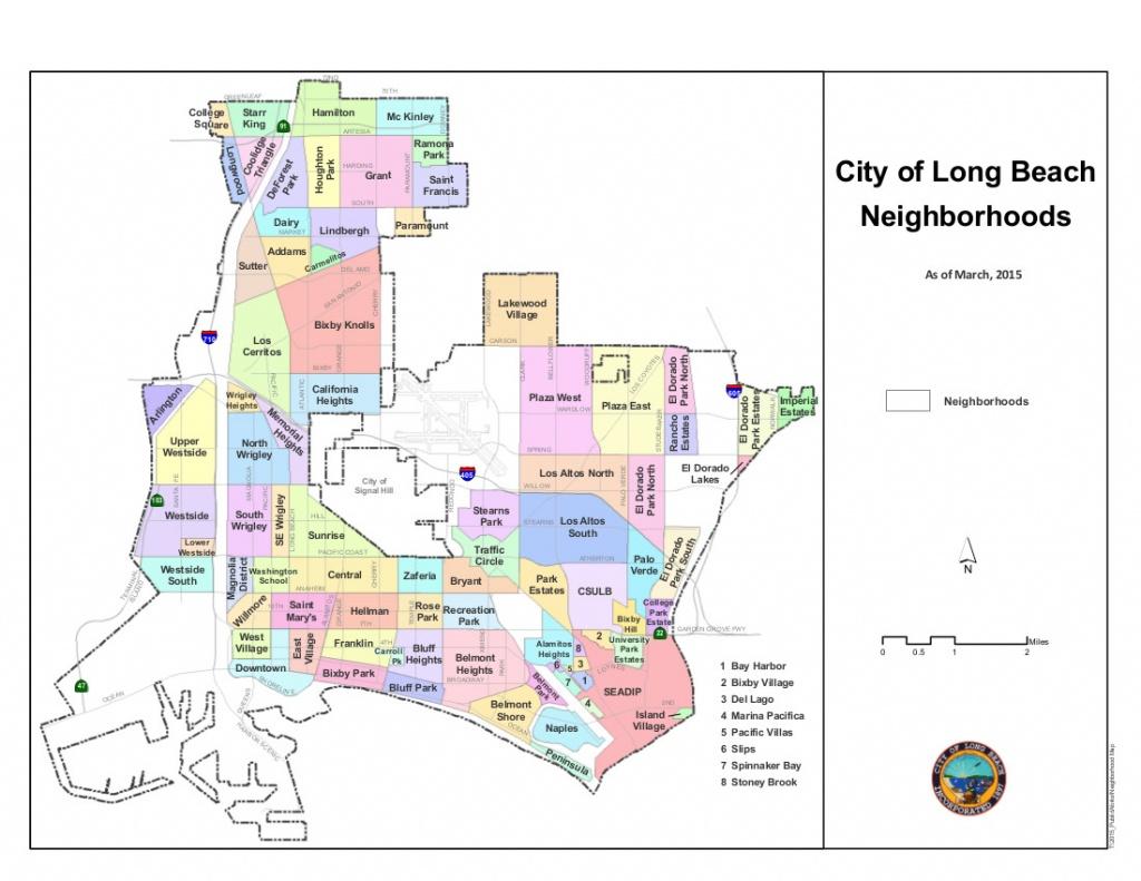 Neighborhoods Of Long Beach, California - Wikipedia - Map Of Long Beach California And Surrounding Areas
