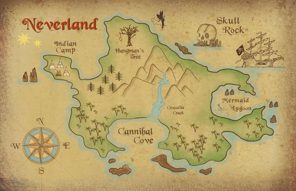 Neverland Map Printable | Freebie! Neverland Map Download | Kids - Printable Neverland Map