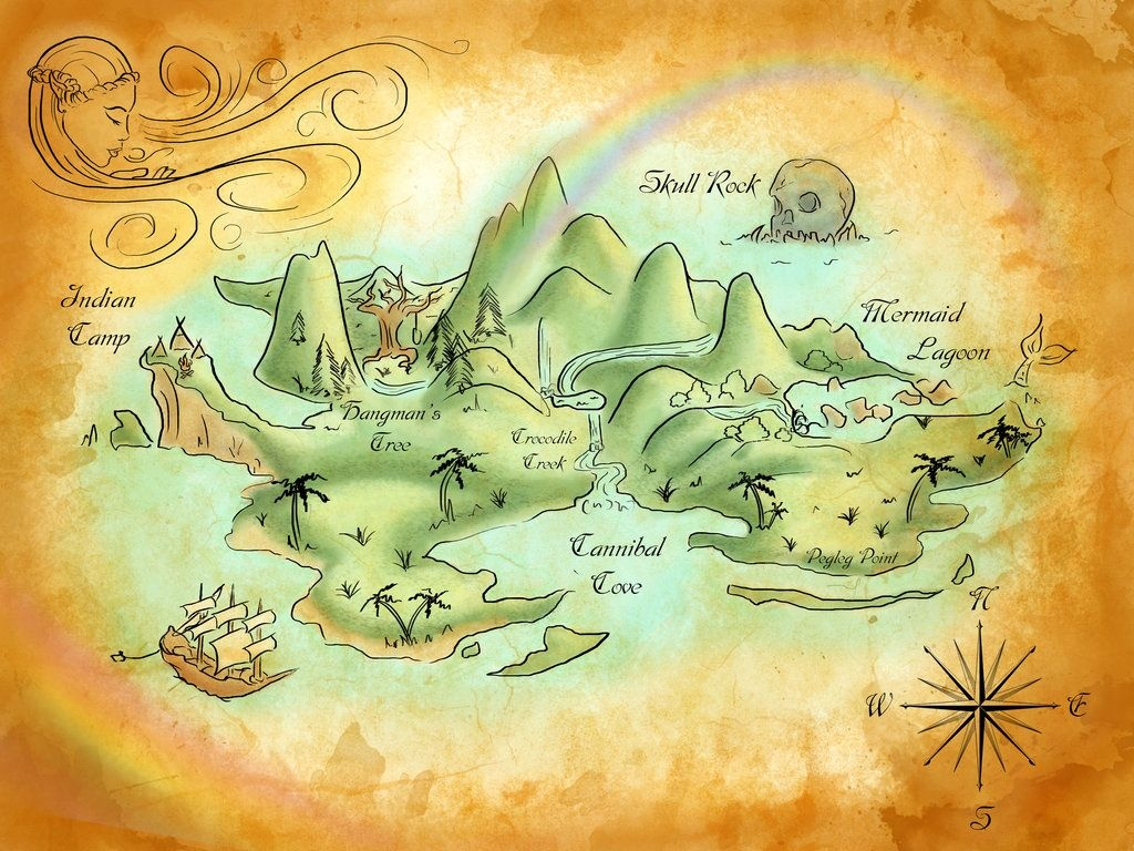 Neverland Mapmercedesjk.deviantart On @deviantart | Birthday - Printable Neverland Map