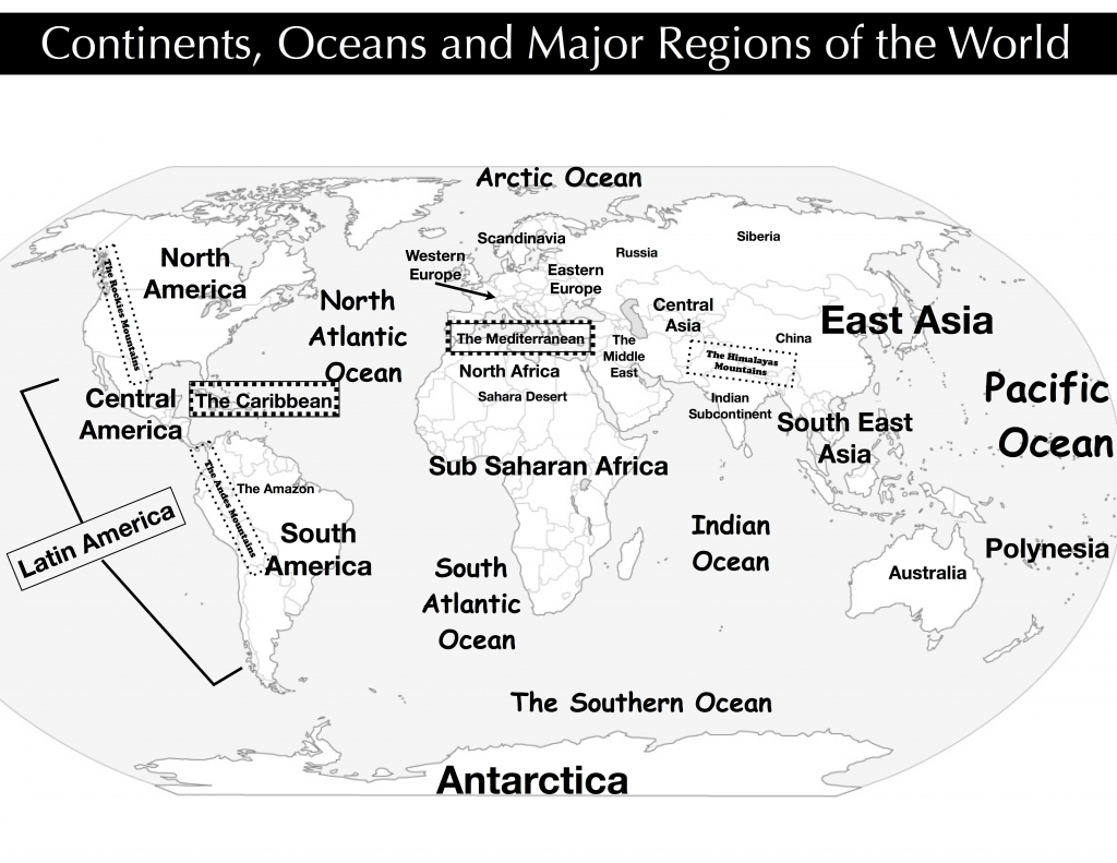 New Ap Human Geography World Map Quiz Davp Co At Australia 1 - World - Continents And Oceans Map Quiz Printable