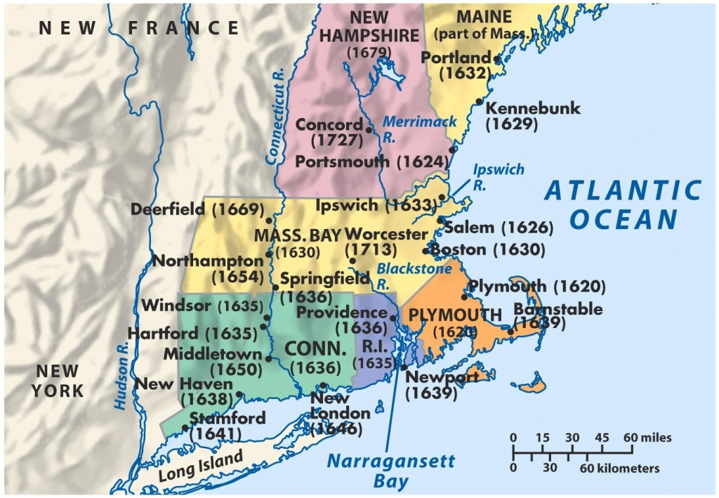 New England Maps Printable | D1Softball - Printable Map Of New England