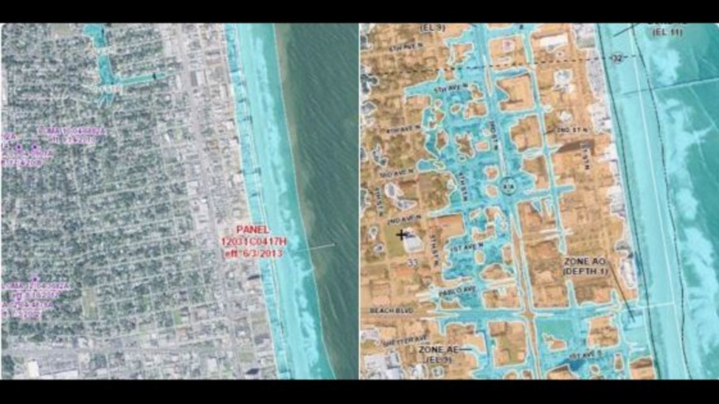 New Fema Flood Maps Show More Jacksonville Beach Streets Are At-Risk - Fema Flood Maps St Johns County Florida