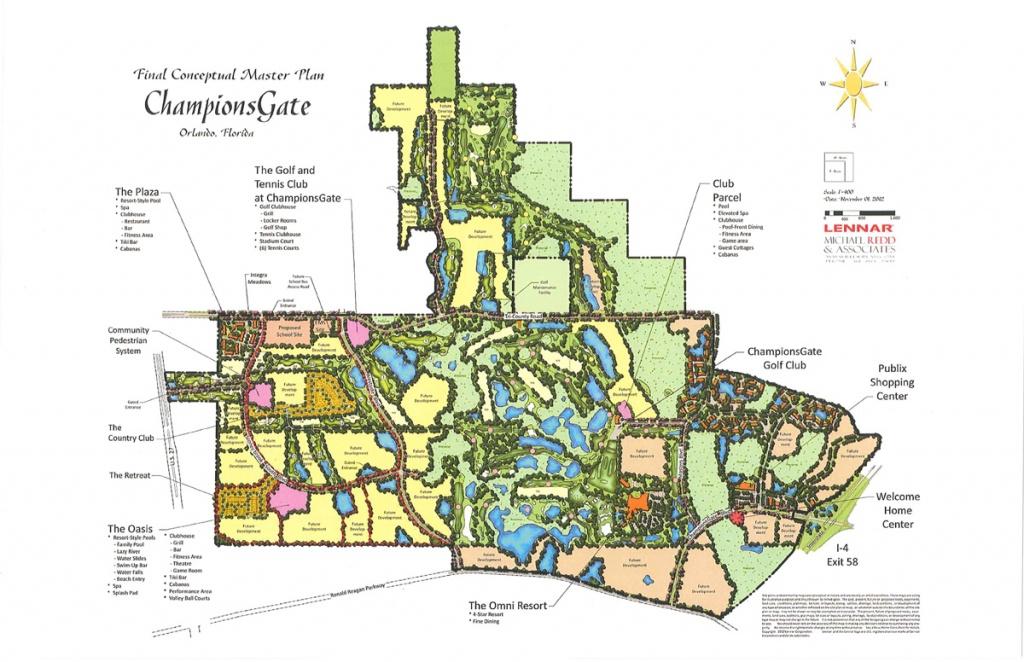 New Homes   Championsgate - Champions Gate Florida Map