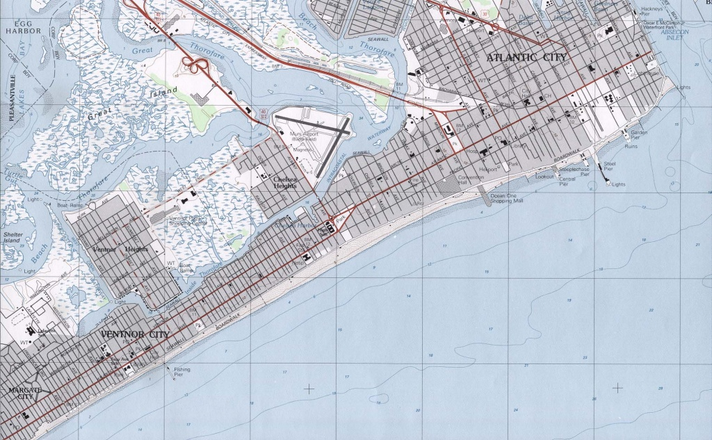 New Jersey Maps - Perry-Castañeda Map Collection - Ut Library Online - Printable Street Map Ocean City Nj
