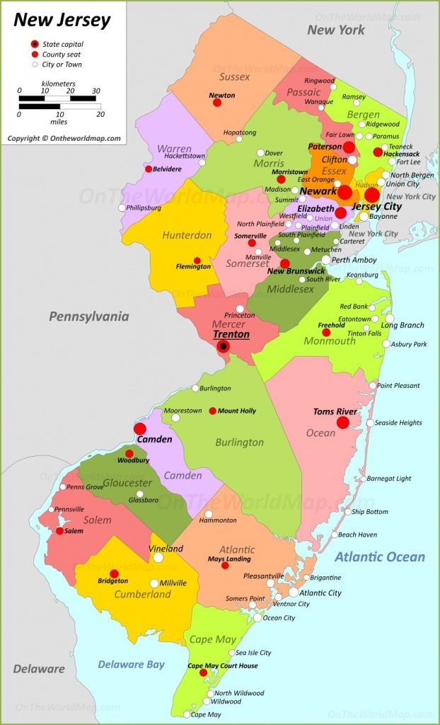New Jersey State Maps | Usa | Maps Of New Jersey (Nj) - Printable Map Of New Jersey