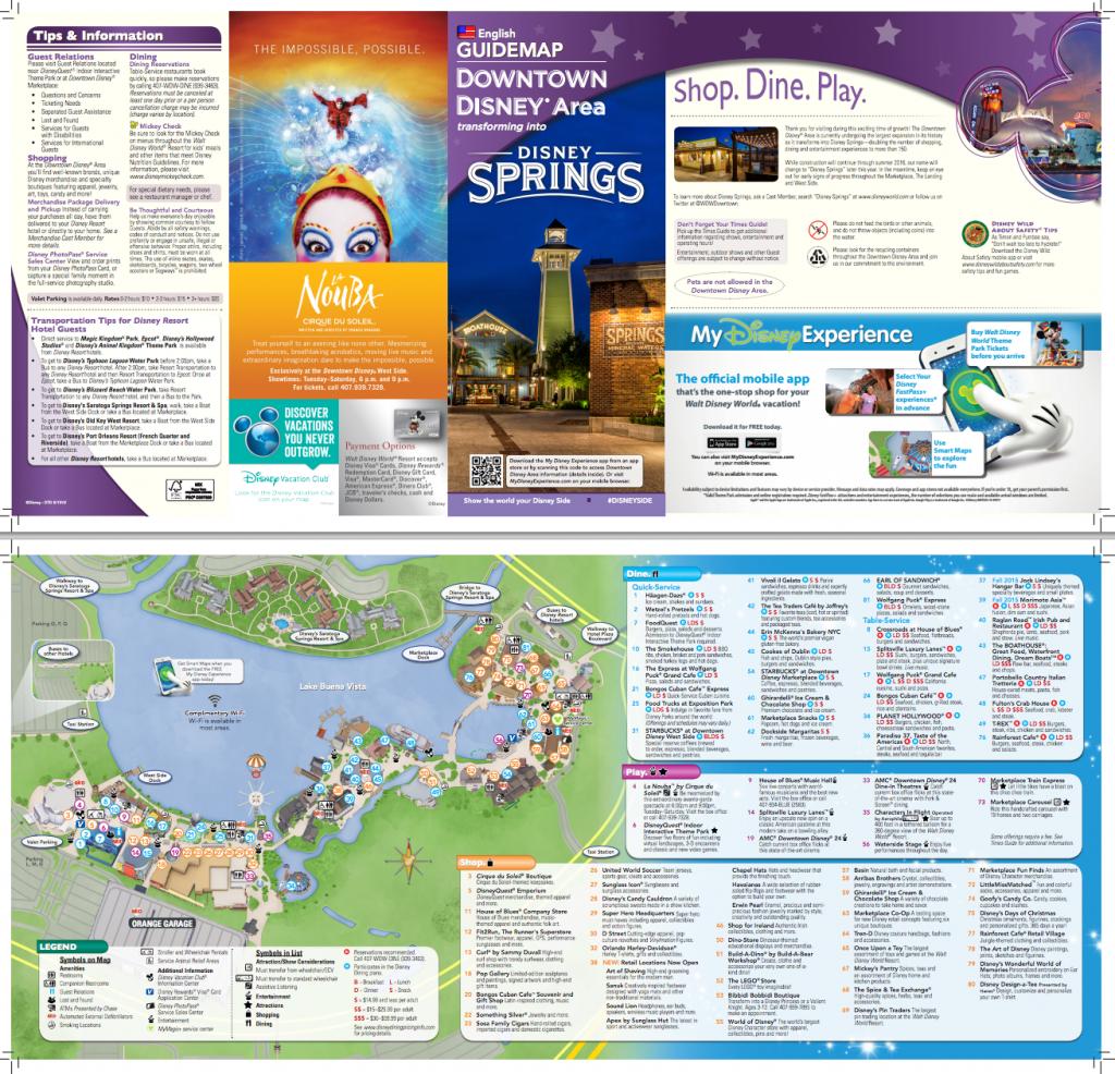 New Map For Downtown Disney/disney Springs (Pdf)   Disney Springs - Map Of Disney Springs Florida