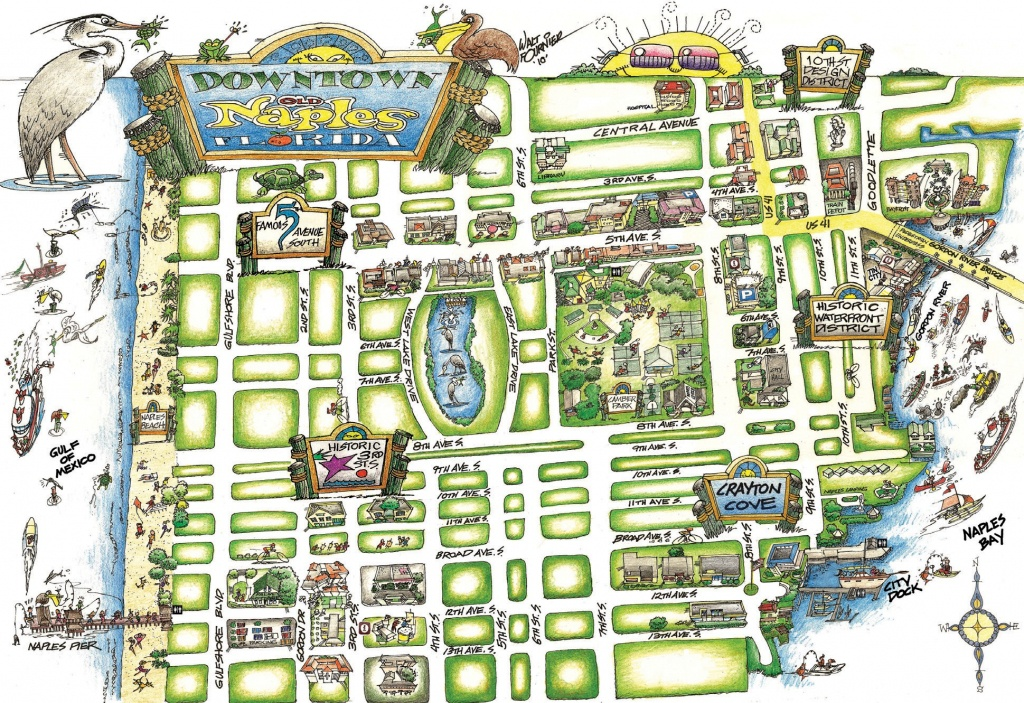 New Map Points The Way For Walking Around Naples | Naples Florida Weekly - Naples On A Map Of Florida