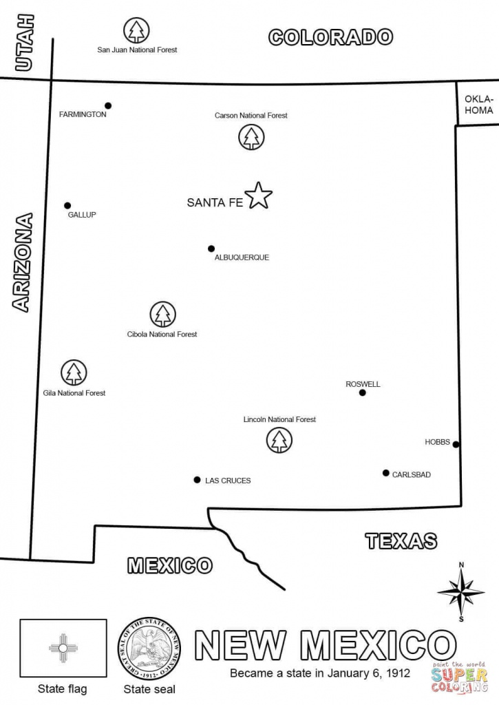 New Mexico Map Coloring Page | Free Printable Coloring Pages - Printable Map Of New Mexico