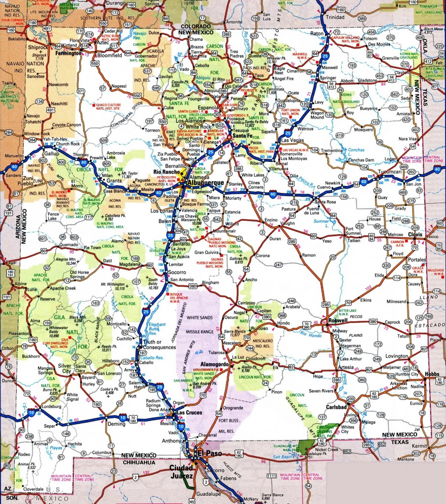 New Mexico Road Map - New Mexico State Map Printable