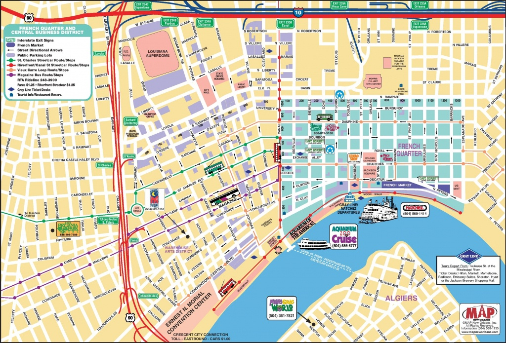 New Orleans French Quarter Tourist Map - New Orleans Street Map Printable