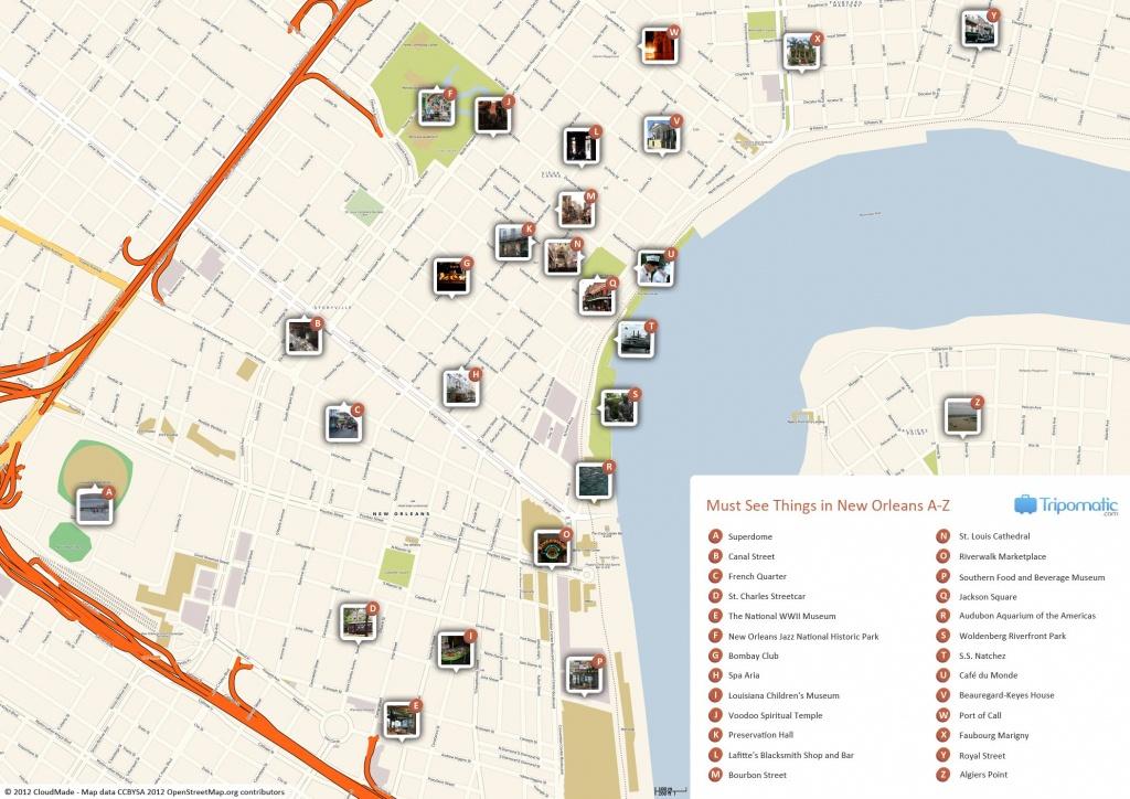 New Orleans Printable Tourist Map   Free Tourist Maps ✈   New - Printable Tourist Map Of Lucerne