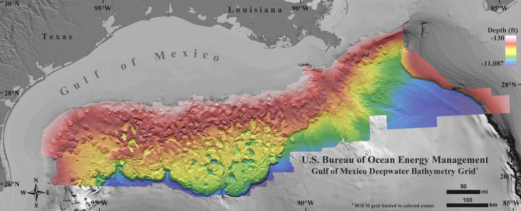 New Seafloor Map Reveals How Strange The Gulf Of Mexico Is - Florida Underwater Map