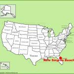 New Smyrna Beach Location On The U.s. Map   New Smyrna Beach Florida Map