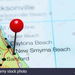 New Smyrna Beach Pinned On A Map Of Florida, Usa Stock Photo   New Smyrna Beach Florida Map