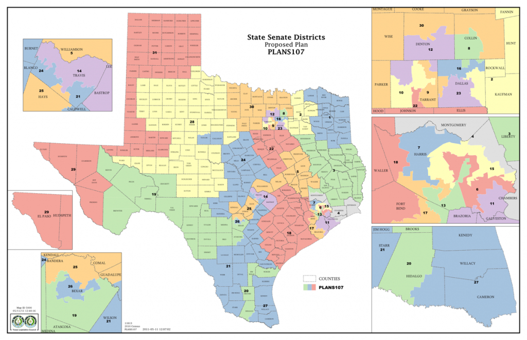 New Texas Senate District Maps Proposed | The Texas Tribune - Texas Senate District Map