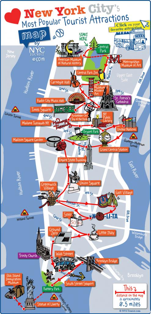 Printable Walking Map Of Manhattan