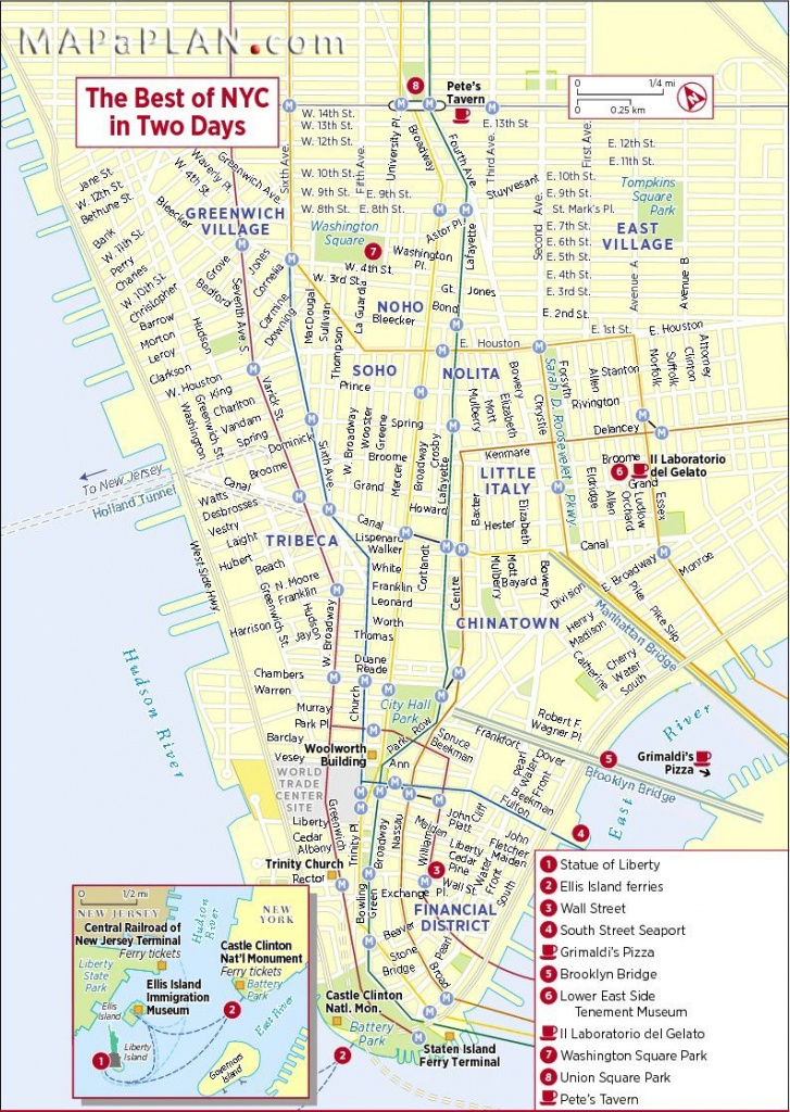 New York City Sights | New York City Map Nyc Tourist | Nyc | New - Printable Map Of Nyc Tourist Attractions