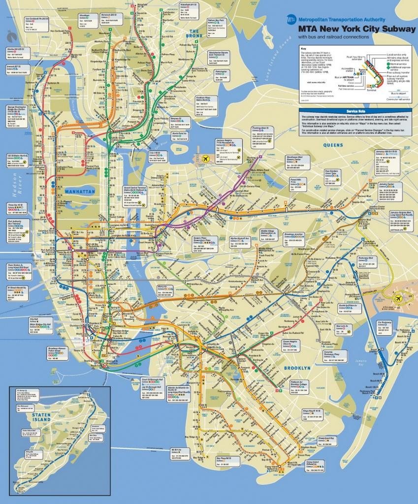 New-York-City-Subway-Map-Large - Printable New York City Subway Map