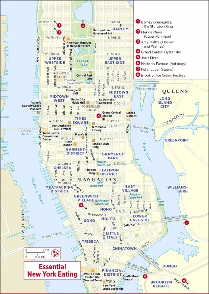 New-York-Map-Map - Printable Map Of New York City