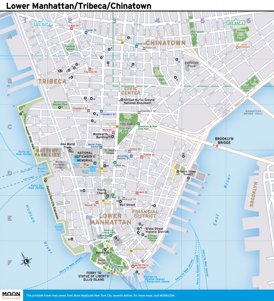 New York Subway Map Pdf Fresh Download Street Manhattan Ny And Of - Printable Map Of Manhattan Nyc