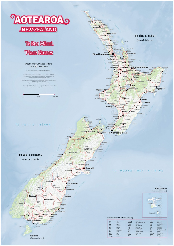 New Zealand Wall Maps Including North And South Island Maps - Printable Map Of New Zealand