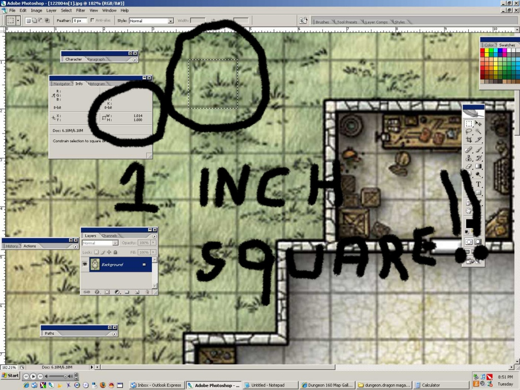 Newbiedm Tutorial – Printing Battle Maps To A 1″ Scale | Www. Newbie - D&d Printable Maps