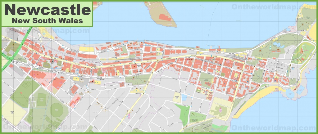 Newcastle Cbd Map - Printable Map Of Newcastle Nsw