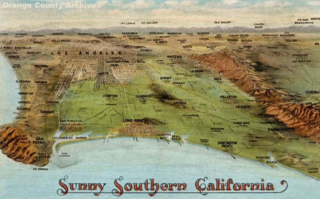 Newport Beach Historical Society | Aerials Maps & Miscellaneous - Old Maps Of Southern California