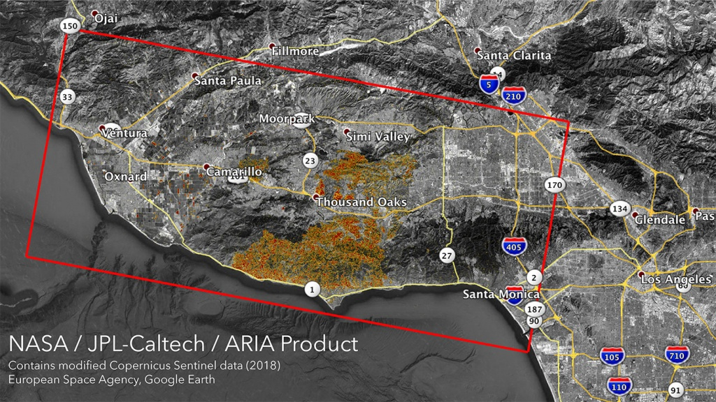 News | Nasa's Aria Maps California Wildfires From Space - State Of California Fire Map