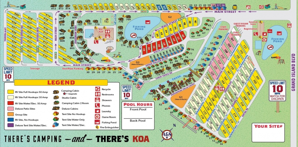 Niagra Falls Koa Campground Site Map | Camping | Outdoor Camping - Koa Florida Map