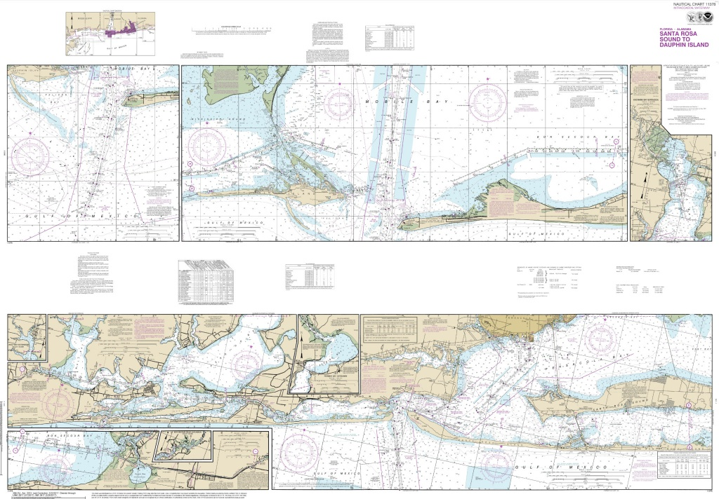 Noaa Chart - Intracoastal Waterway Santa Rosa Sound To Dauphin - Santa Rosa Sound Florida Map