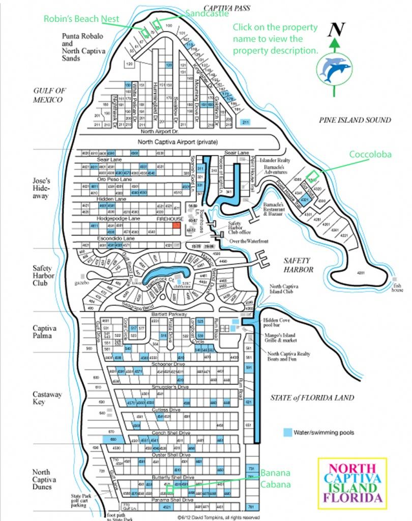 North Captiva Island Vacation Rentals, Upper Captiva Island - North Captiva Island Florida Map