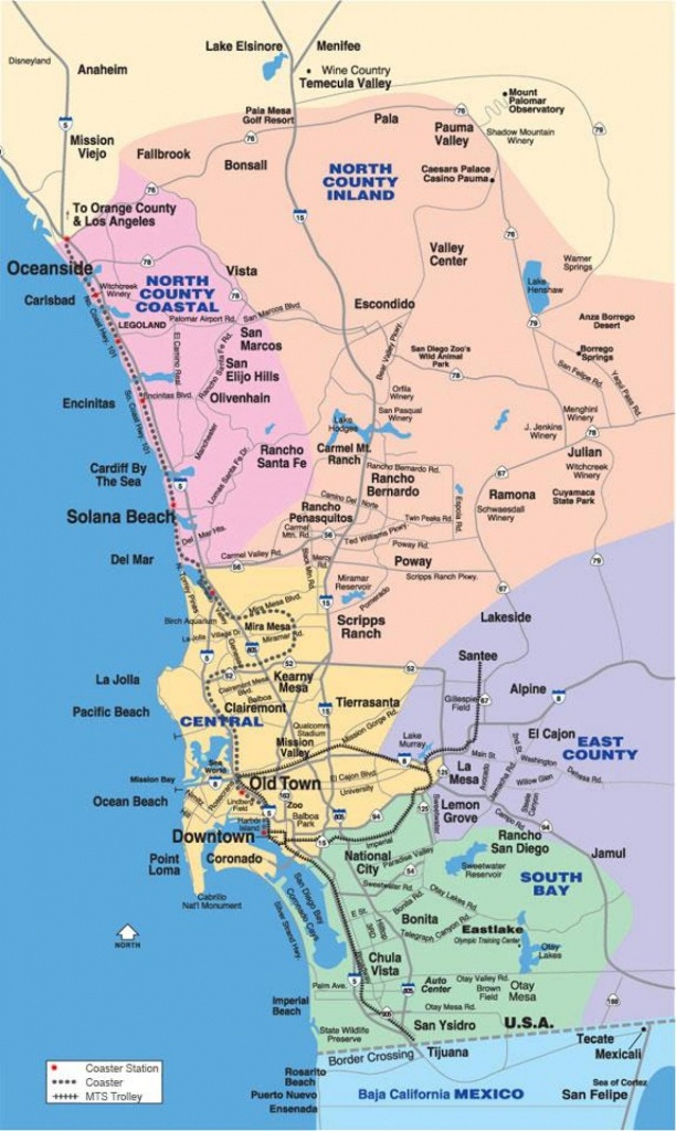 North County San Diego Map - Map Of North San Diego County - Printable Map Of San Diego County