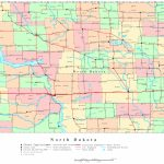 North Dakota Printable Map   Printable Map Of North Dakota