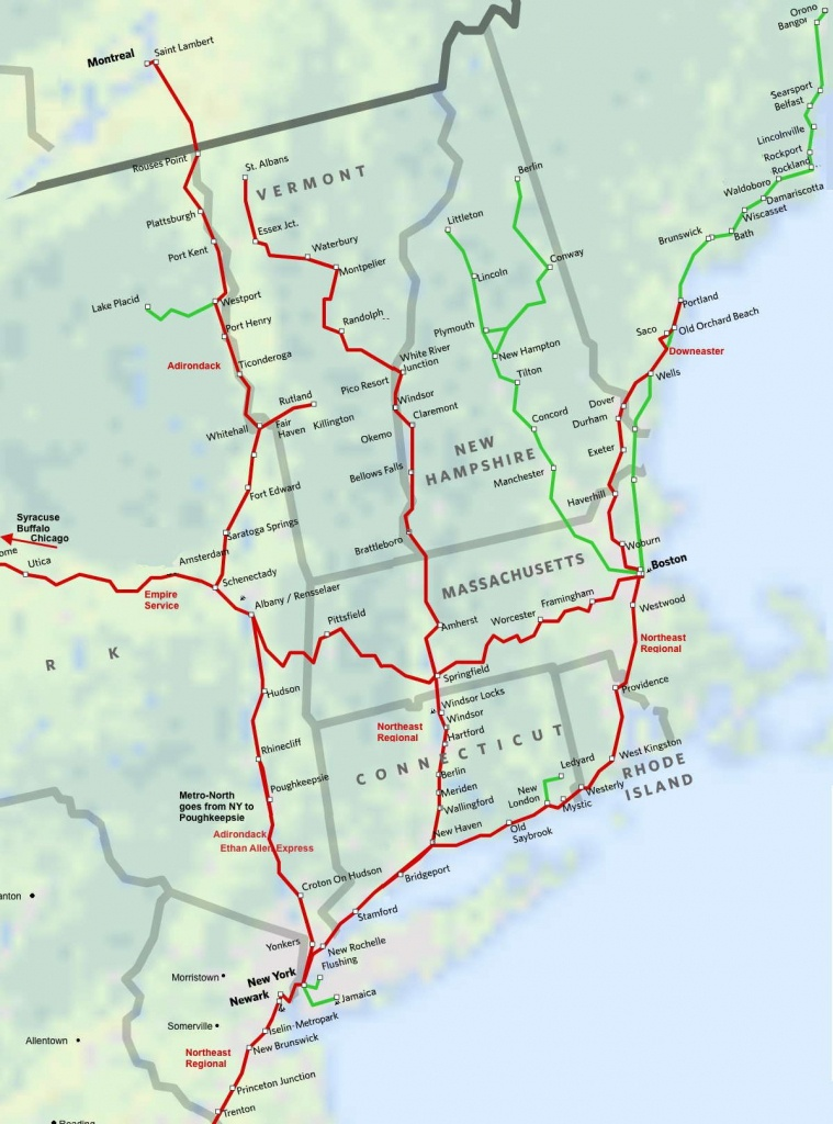 North East New England Amtrak Route Map. Super Easy Way To Get To - Amtrak Station Map Florida