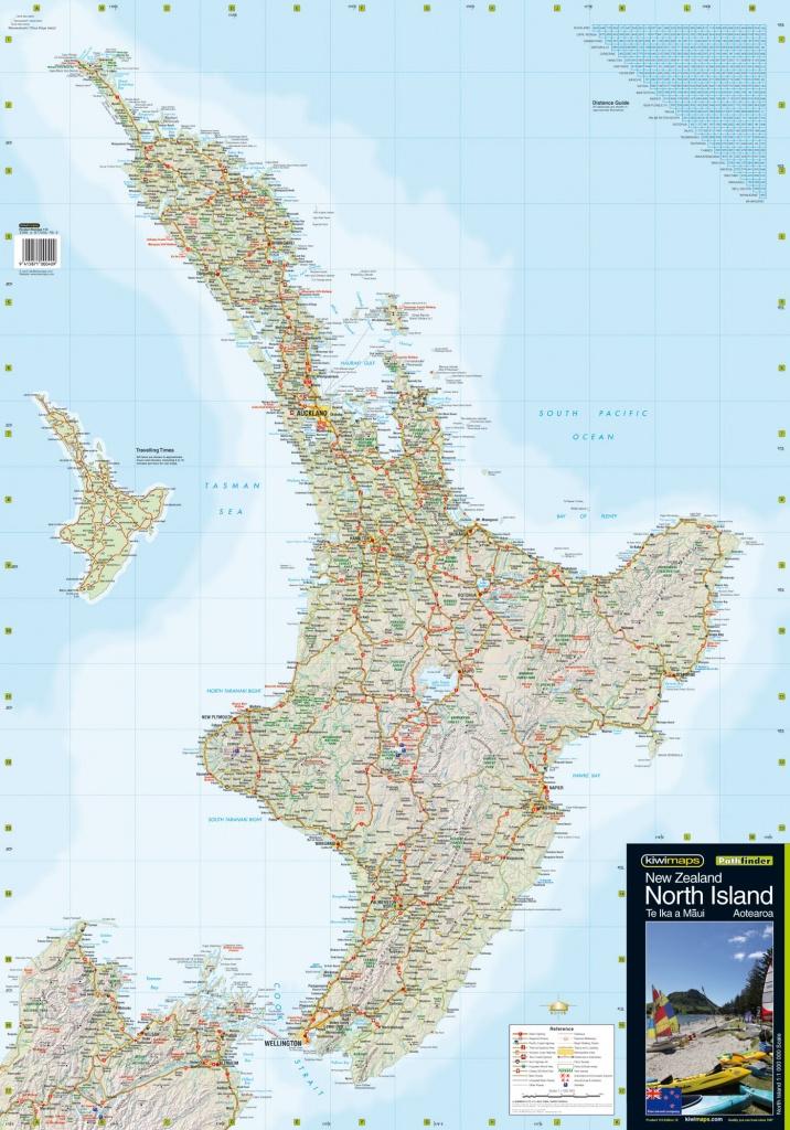 North Island Wall Maps - New Zealand North Island Map Printable