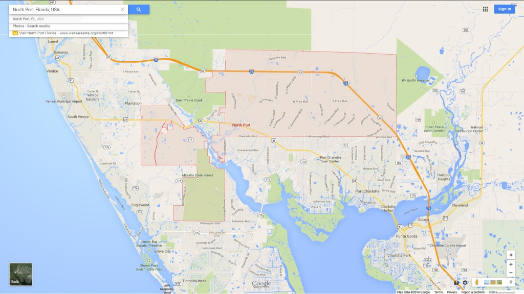 North Port Florida Map - Where Is North Port Florida On A Map