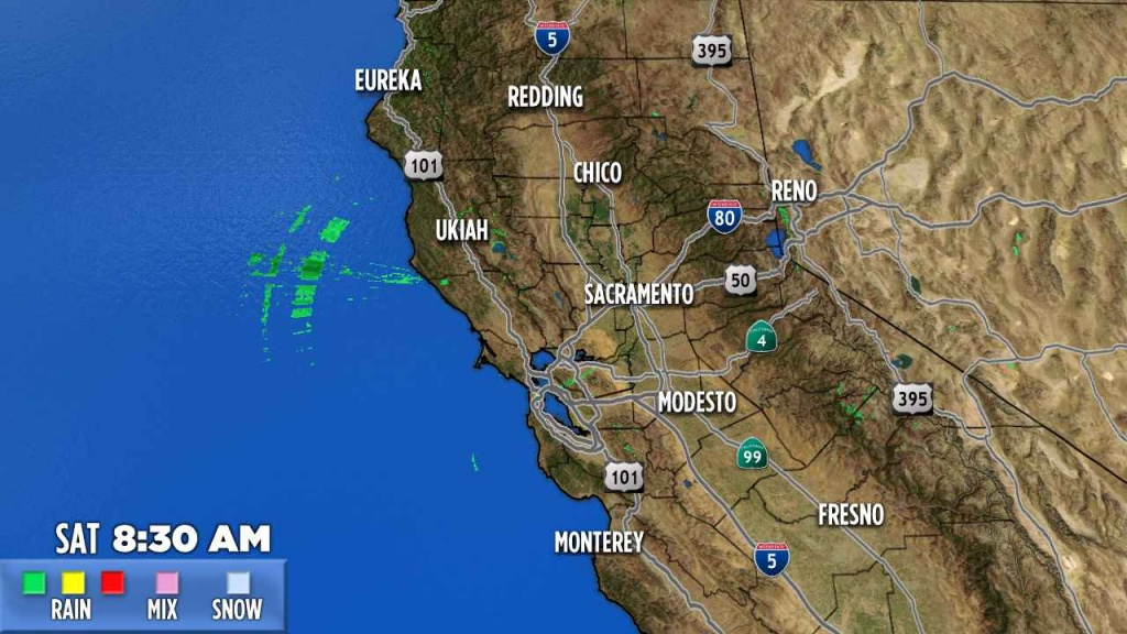 Northern California | Abc7News - Current Weather Map California