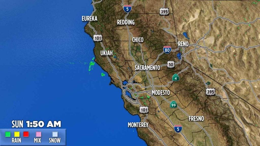 Northern California   Abc7News - Doppler Map California