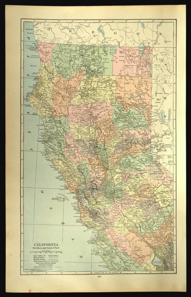 Northern California Map Of Northern California Wall Decor Art | Etsy - Northern California Wall Map