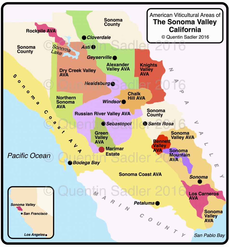 Northern California Wine Country Map Sonoma Valley Quentin Sadler S - California Wine Country Map