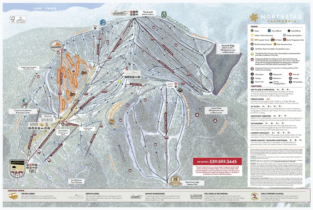 Northstar California Trail Map   Onthesnow - Southern California Ski Resorts Map