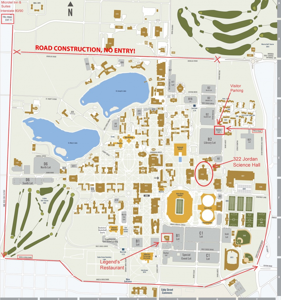 Notre Dame Campus Map Pdf – Bestinthesw - Notre Dame Campus Map Printable