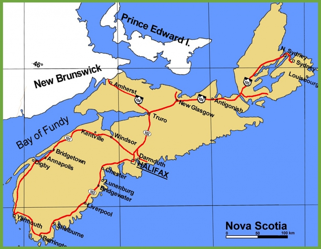 Nova Scotia Maps | Canada | Maps Of Nova Scotia (Ns) - Printable Map Of Nova Scotia